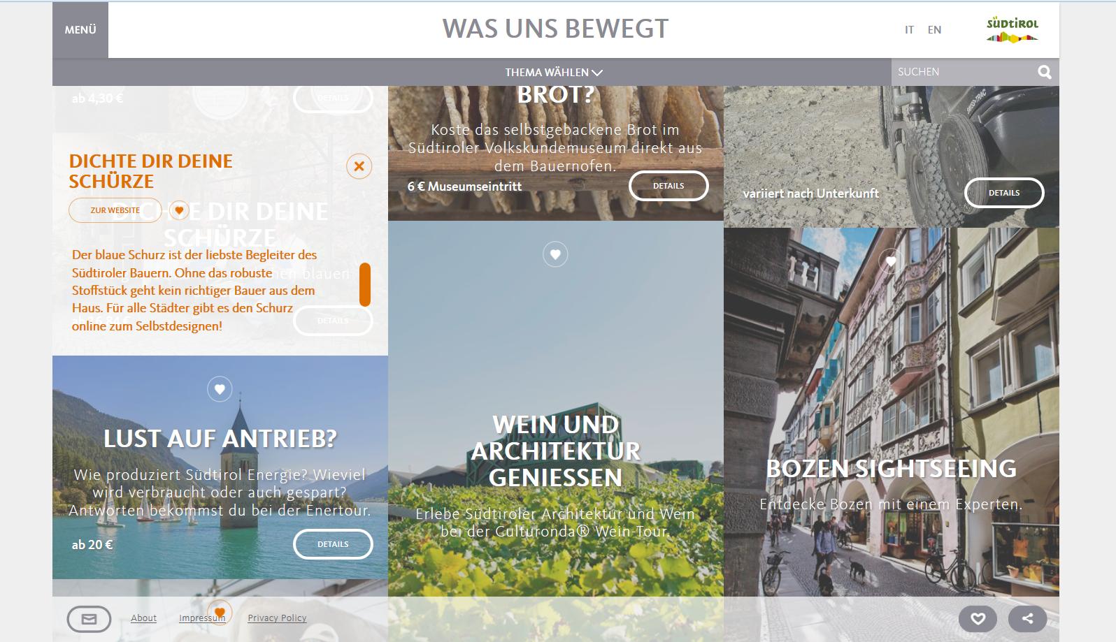 Tourismus Angebote mit Micro Storytelling