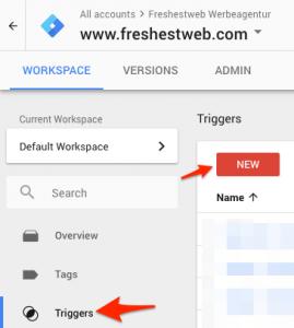 1_Scroll Tiefe Google Tag Manager trigger erstellen