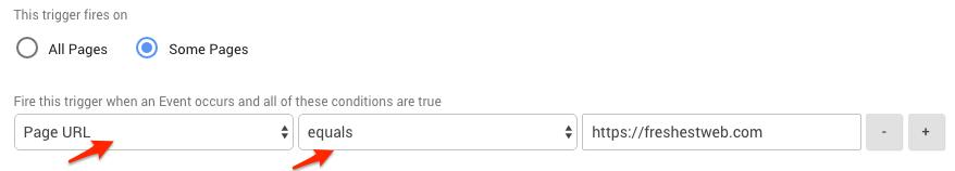 scroll tiefe nur auf bestimmter seite messen - google tag manger