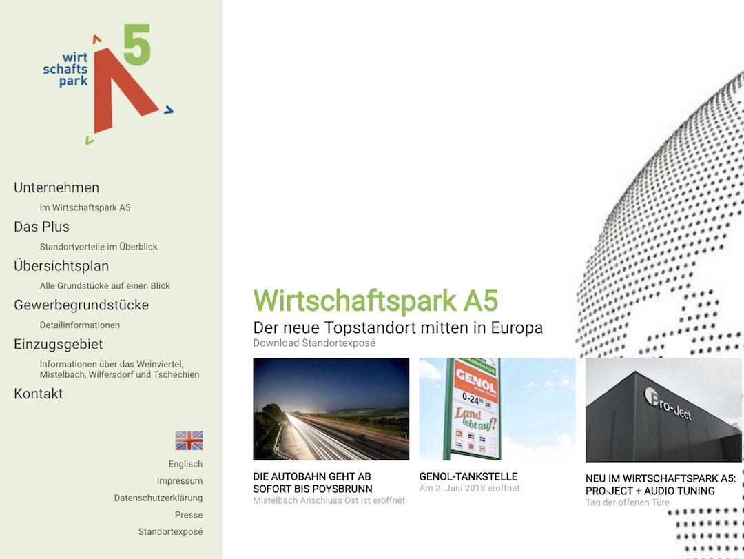 Wirtschaftspark A5 - Stadtgemeinde Mistelbach - Kunde von freshestweb Online Marketing Agentur