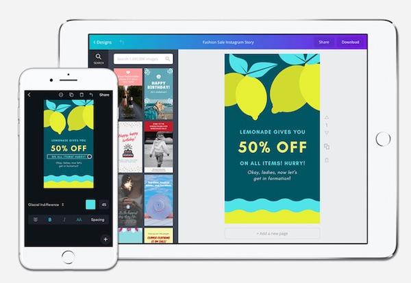 canva - instagram stories insta story app vorlagen video