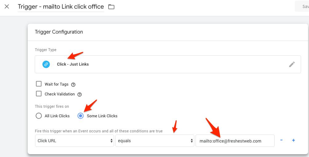 Facebook Lead Event - conversion Tracking mit Google Tag Manager - Trigger einstellungen